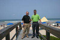 "Dick, Martin & PRR on the boardwalk @ the ""Cabana Beach Club"""