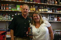 "Dick & Beth @ ""Monkey's Uncle Liquors"" 7-1-11"