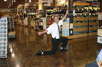 """Ta Da!!"" from Lee, the great showman @ ""Total Wine St Pete"" 7-16-11"